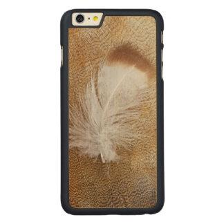 Coque Mince En Érable iPhone 6 Plus Plumes sensibles d'oie