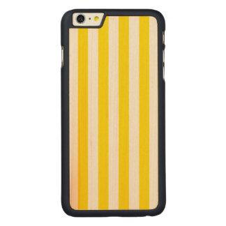 Coque Mince En Érable iPhone 6 Plus Rayures jaunes verticales