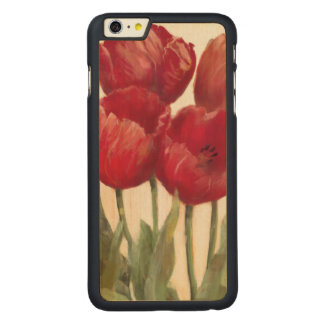 Coque Mince En Érable iPhone 6 Plus Tulipes rouges