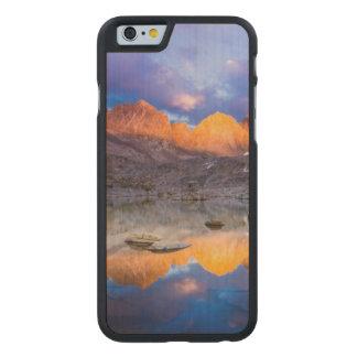 Coque Mince En Érable iPhone 6 Réflexion de montagne, la Californie