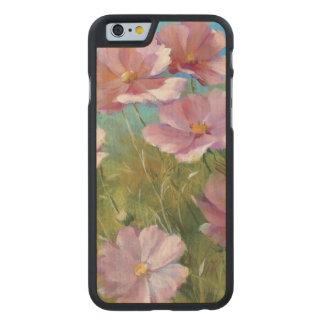 Coque Mince En Érable iPhone 6 Un jardin floral rose