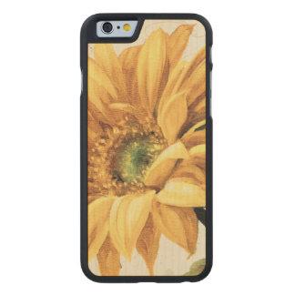 Coque Mince En Érable iPhone 6 Un tournesol en pleine floraison