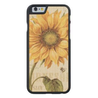 Coque Mince En Érable iPhone 6 Un tournesol jaune