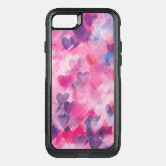 Coque OtterBox Commuter iPhone 8/7 Amour rose fantaisie chic assez élégant de