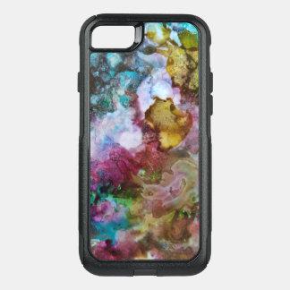 Coque OtterBox Commuter iPhone 8/7 Aquarelle liquide bleue, vert, violet