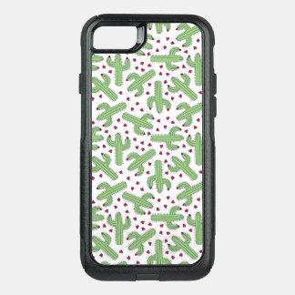 Coque OtterBox Commuter iPhone 8/7 Cactus illustré et motif de fleurs rose