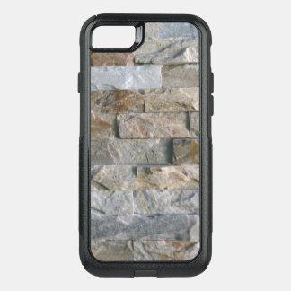 Coque OtterBox Commuter iPhone 8/7 Dalles grises empilées de pierre de granit