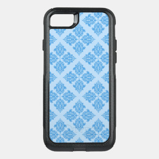 Coque OtterBox Commuter iPhone 8/7 Damassé de Marocain de bleu de ciel