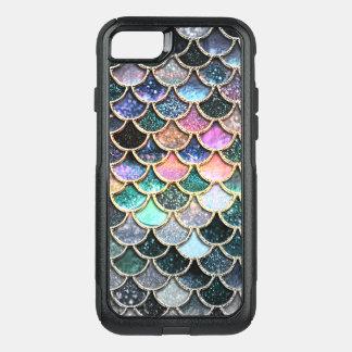 Coque OtterBox Commuter iPhone 8/7 Échelles argentées de luxe de sirène de parties