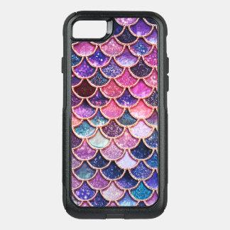 Coque OtterBox Commuter iPhone 8/7 Échelles roses de sirène d'échelles de parties