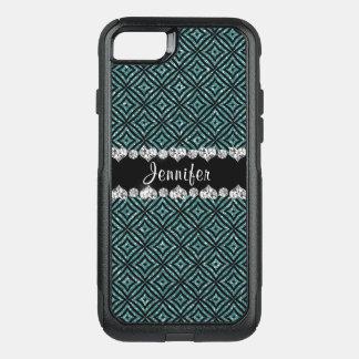 Coque OtterBox Commuter iPhone 8/7 Girly élégant de parties scintillantes d'Aqua