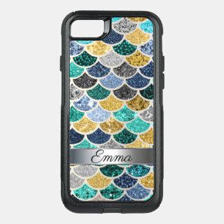 Coque OtterBox Commuter iPhone 8/7 La queue multicolore à la mode de sirène