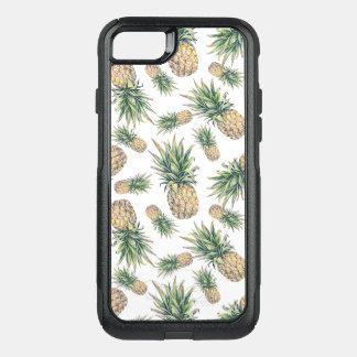 Coque OtterBox Commuter iPhone 8/7 Motif d'ananas d'aquarelle