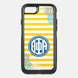 Coque OtterBox Commuter iPhone 8/7 Motif de rayure de monogramme de l'alpha | de phi