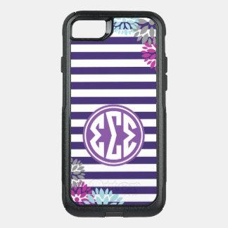 Coque OtterBox Commuter iPhone 8/7 Motif de rayure de monogramme du sigma | de sigma