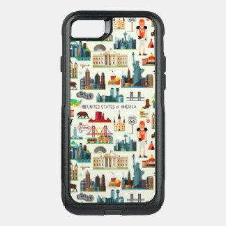 Coque OtterBox Commuter iPhone 8/7 Motif de symboles des Etats-Unis
