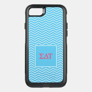 Coque OtterBox Commuter iPhone 8/7 Motif de Tau | Chevron de delta de sigma