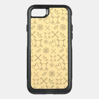 Coque OtterBox Commuter iPhone 8/7 Motif jaune de crâne et d'os