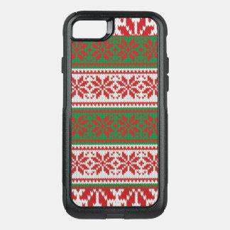 Coque OtterBox Commuter iPhone 8/7 Motif vert rouge de chandail laid impressionnant