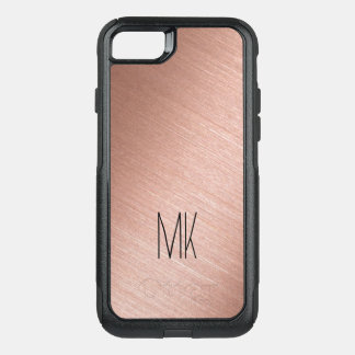 Coque OtterBox Commuter iPhone 8/7 Or rose et monogramme noir