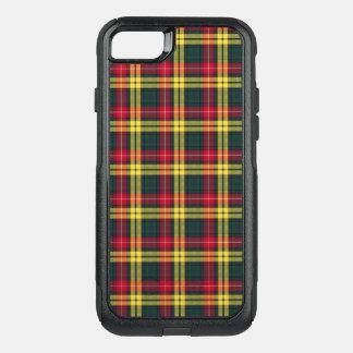 Coque OtterBox Commuter iPhone 8/7 Plaid rouge, jaune et vert de tartan de Buchanan