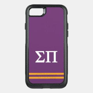 Coque OtterBox Commuter iPhone 8/7 Rayure de sport du sigma pi |