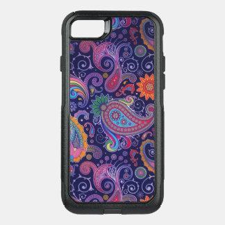Coque OtterBox Commuter iPhone 8/7 Rose pourpre de Paisley