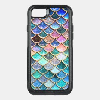 Coque OtterBox Commuter iPhone 8/7 Soyons des échelles de sirène de scintillement de