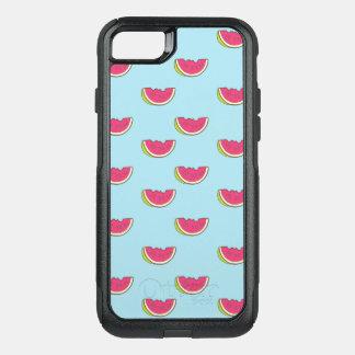 Coque OtterBox Commuter iPhone 8/7 Tranches de pastèque sur le motif turquoise