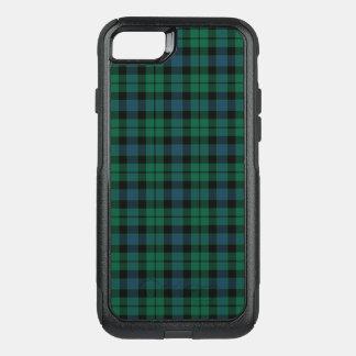 Coque OtterBox Commuter iPhone 8/7 Vert de tartan de MacKay de clan, bleu, et plaid