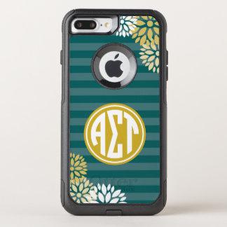 Coque OtterBox Commuter iPhone 8 Plus/7 Plus Alpha motif de rayure de monogramme de Tau | de