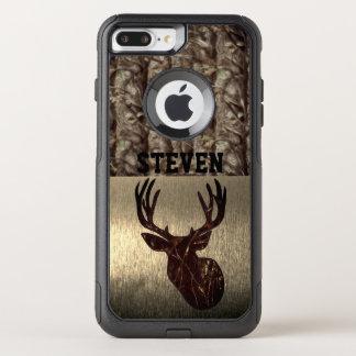 Coque OtterBox Commuter iPhone 8 Plus/7 Plus Cas de nom de chasse de cerfs communs de