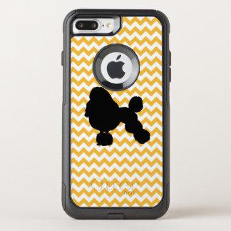 Coque OtterBox Commuter iPhone 8 Plus/7 Plus Chevron orange en pastel avec la silhouette de