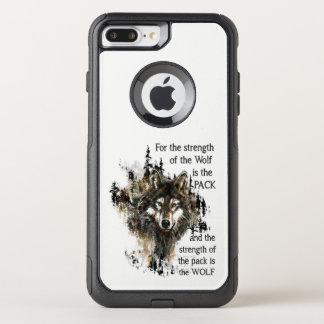 Coque OtterBox Commuter iPhone 8 Plus/7 Plus Citation inspirée de loup et de famille de paquet