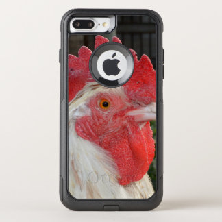 Coque OtterBox Commuter iPhone 8 Plus/7 Plus Coq blanc avec des taches de Brown,