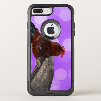 Coque OtterBox Commuter iPhone 8 Plus/7 Plus Coq Parker fouineur de Brown,