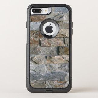 Coque OtterBox Commuter iPhone 8 Plus/7 Plus Dalles grises empilées de pierre de granit