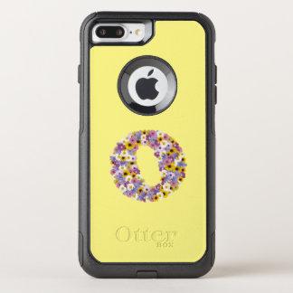 Coque OtterBox Commuter iPhone 8 Plus/7 Plus Lettre O de monogramme