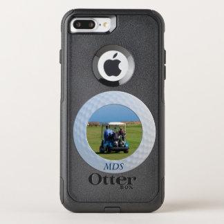 Coque OtterBox Commuter iPhone 8 Plus/7 Plus Monogramme encadré de photo de boule de golf