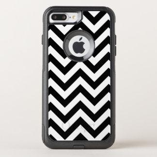 Coque OtterBox Commuter iPhone 8 Plus/7 Plus Motif noir et blanc de Chevron
