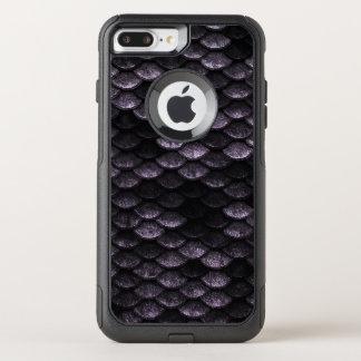 Coque OtterBox Commuter iPhone 8 Plus/7 Plus Nuances de Deep Purple de motif d'échelles de