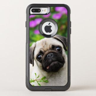 Coque OtterBox Commuter iPhone 8 Plus/7 Plus Photo fauve mignonne d'animal familier de chiot de