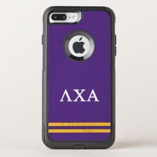 Coque OtterBox Commuter iPhone 8 Plus/7 Plus Rayure de sport de l'alpha | de Chi de lambda