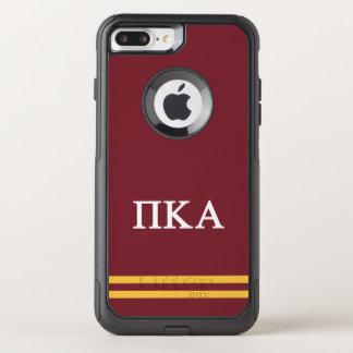 Coque OtterBox Commuter iPhone 8 Plus/7 Plus Rayure de sport de l'alpha | de Kappa de pi