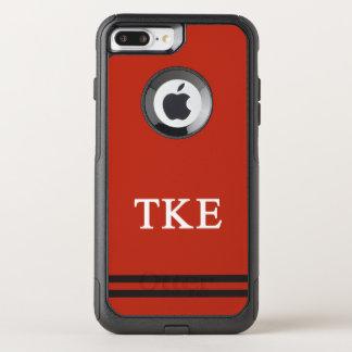 Coque OtterBox Commuter iPhone 8 Plus/7 Plus Rayure de sport de l'epsilon | de Kappa de Tau