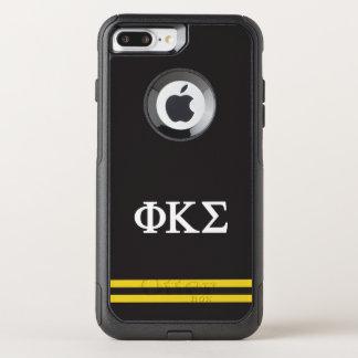 Coque OtterBox Commuter iPhone 8 Plus/7 Plus Rayure de sport du sigma | de Kappa de phi