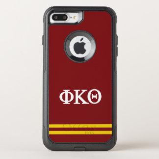 Coque OtterBox Commuter iPhone 8 Plus/7 Plus Rayure de sport du thêta | de Kappa de phi