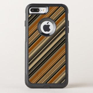 Coque OtterBox Commuter iPhone 8 Plus/7 Plus Selle Brown et motif rayé noir