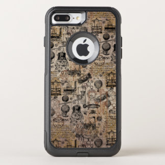 Coque OtterBox Commuter iPhone 8 Plus/7 Plus Steampunk vintage