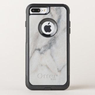 Coque OtterBox Commuter iPhone 8 Plus/7 Plus Texture de marbre blanche avec le nom fait sur